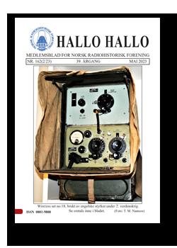 HALLO HALLO MEDLEMSBLAD FOR NORSK RADIOHISTORISK FORENING